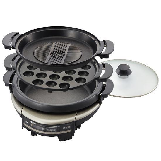 圖片 【TIGER虎牌】5.0L三合一多功能電火鍋/烤盤 CQD-B30R