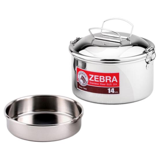 圖片 【ZEBRA斑馬】14cm圓型提耳雙層便當盒 8S14II