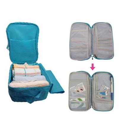 圖片 【英國熊】一把罩多用途收納旅行袋及護照包組