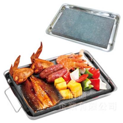 第二代派樂天然岩燒BBQ不鏽鋼石板烤盤(1入) 石板烤肉 岩燒石板烤盤 附贈特製不鏽鋼輔助烤肉架-