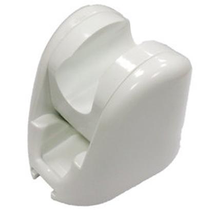圖片 《魔特萊》免鑽孔專利10段可調角度掛座〈白〉/蓮蓬頭掛勾(2入)只需沿用舊孔即可輕易安裝