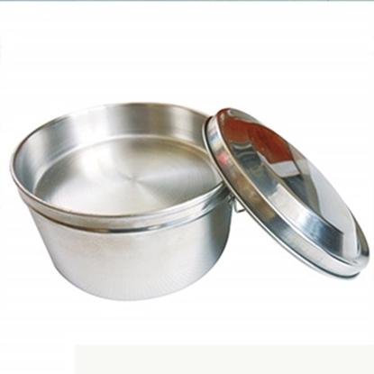 圖片 《派樂》圓形雙層便當盒14CM(五件式)│雙扣環│省力│好蓋│衛生│附菜盤飯盒│贈湯碗湯匙