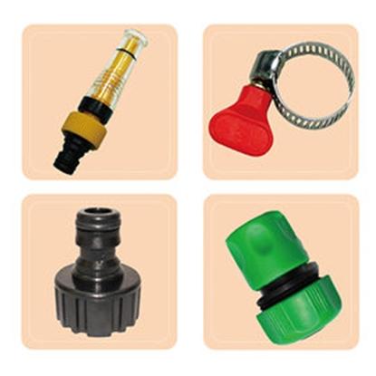 圖片 魔特萊透明加壓水槍配件包(4件式)(2入組)-配合家中水管使用-含蓮蓬頭水管轉接頭-清潔洗車澆花