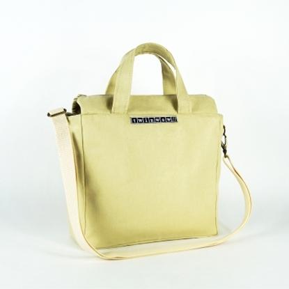 圖片 twinwow - 時尚臻品 - 細緻質感手提/側背包 - 米白