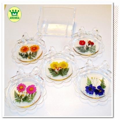 圖片 【AMONKA】手工乾燥花壓花領結杯墊組