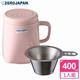 【ZERO JAPAN】陶瓷泡茶用馬克杯(桃子粉)400CC
