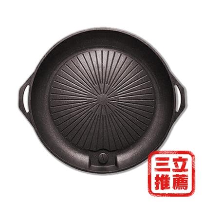 圖片 GREEN GRILL 麥飯石不沾兩用圓烤盤-電