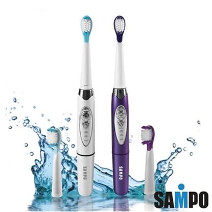 圖片 SAMPO聲寶 音波震動牙刷(白/紫 顏色隨機) TB-Z1508L
