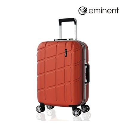 圖片 【EMINENT】幾何變奏曲-鋁框飛機輪全PC行李箱 20吋<新橘紅>9P3