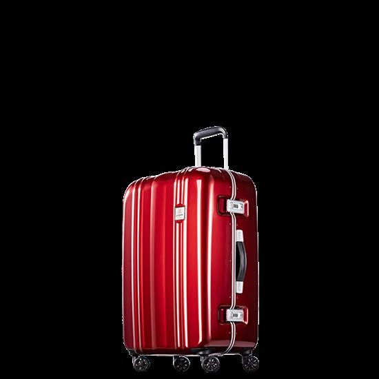 圖片 【PROBEETLE】絕美亮面PC細鋁框行李箱 25吋<亮銀河紅>9Q1-電