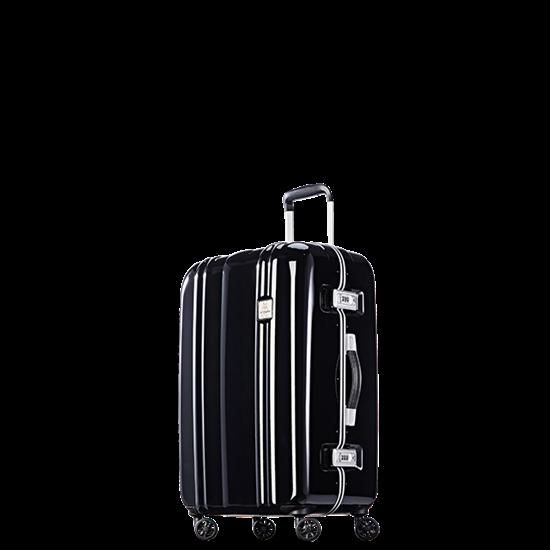 圖片 【PROBEETLE】絕美亮面PC細鋁框行李箱 25吋<鑽石黑>9Q1-電