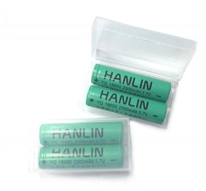 圖片 HANLIN-18650電池 2300mah保證足量 通過國家bsmi認證(一組2顆)