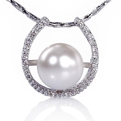 圖片 【小樂珠寶】表現出十足的女人味,3A正圓全美南洋深海貝珍珠墬鍊