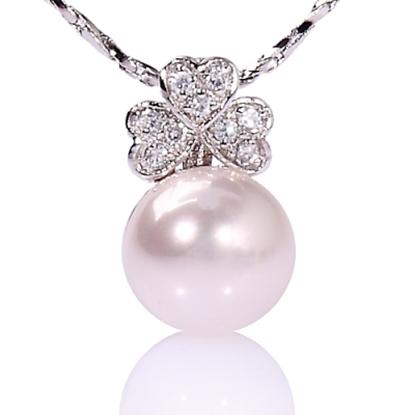 圖片 【小樂珠寶】珍珠串鍊線材質我們一律用進口鋼線,3A正圓全美南洋深海貝珍珠墬鍊項鍊