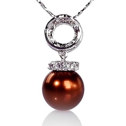 圖片 【小樂珠寶】珠母貝和珍珠、珊瑚、琥珀一樣,都屬於有機珠寶,3A正圓全美南洋深海貝珍珠墬鍊項鍊