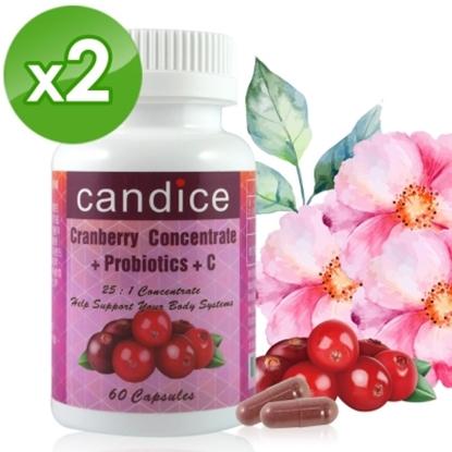 圖片 【Candice】康迪斯天然蔓越莓+益生菌膠囊(60顆*2瓶)