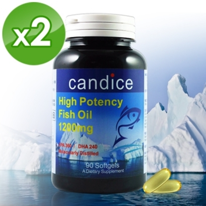 圖片 【Candice】康迪斯歐米加600魚油膠囊(90顆*2瓶)Super Omega-3 Fish Oil