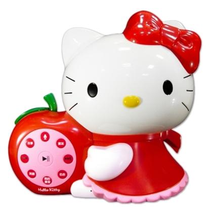 圖片 台灣製造HELLO KITTY 凱蒂貓幼兒啟蒙教育故事機優惠組(紅色)