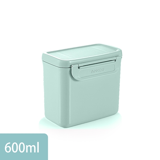 圖片 【安酷生活】便攜式奶粉盒 600ml(粉綠)