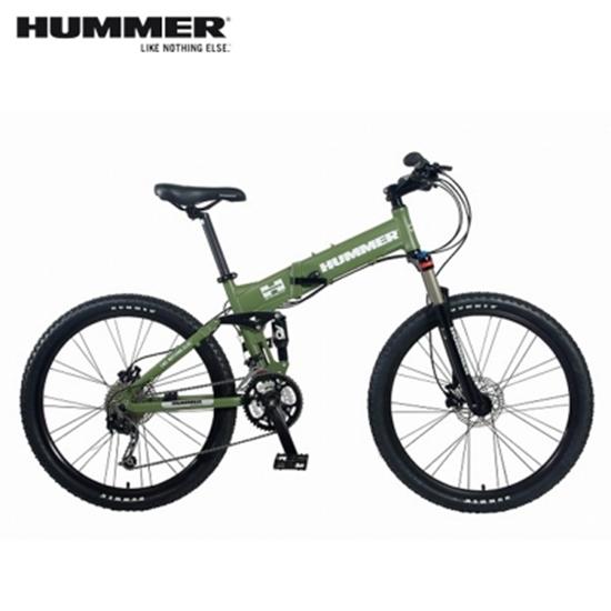 圖片 HUMMER 大悍馬 HM2600 26吋27速4連桿碟煞大折疊單車-綠