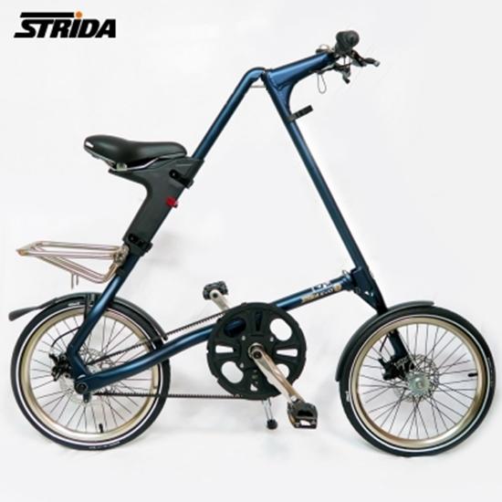 圖片 STRiDA 速立達 18吋3速EVO版折疊單車(碟剎)-霧藍色
