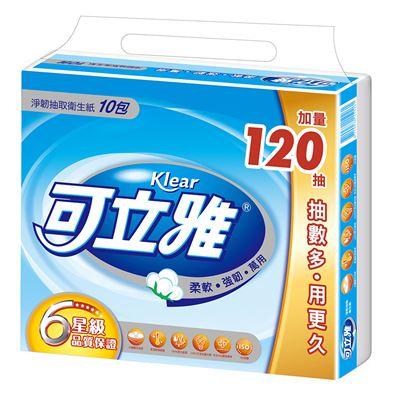 圖片 【可立雅】淨韌抽取衛生紙(90+12抽)X10包X10串/箱