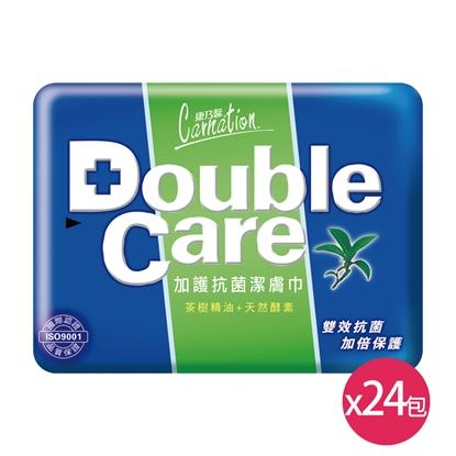 康乃馨Double Care抗菌濕巾外出型20抽x24包