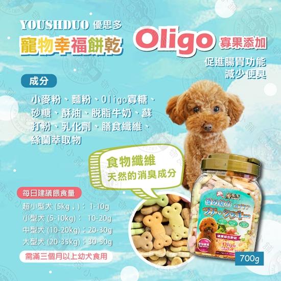 圖片 新品【優的給力】優思多 寵物幸福餅乾 YOUSIHDUO 700G Oligo寡果添加 膳食纖維 天然消臭