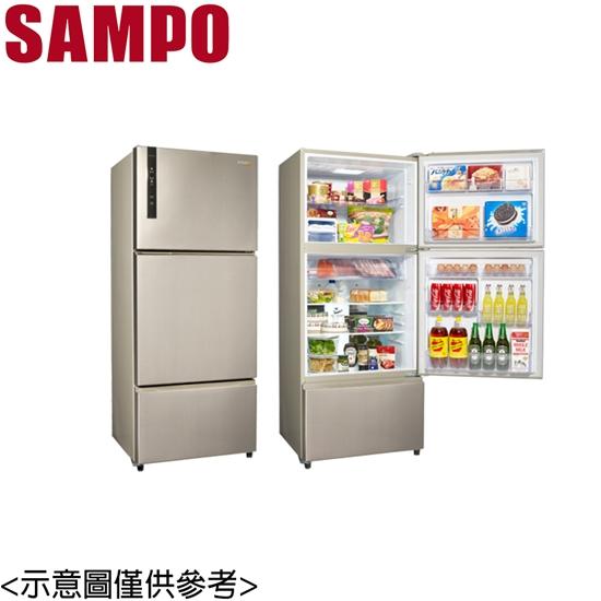 圖片 原廠好禮送【SAMPO聲寶】530公升變頻三門冰箱 SR-B53DV (Y6)