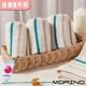 【MORINO】有機棉三緞條方巾(超值6件組)