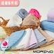 【MORINO】無撚紗素色典雅方巾(超值6件組)