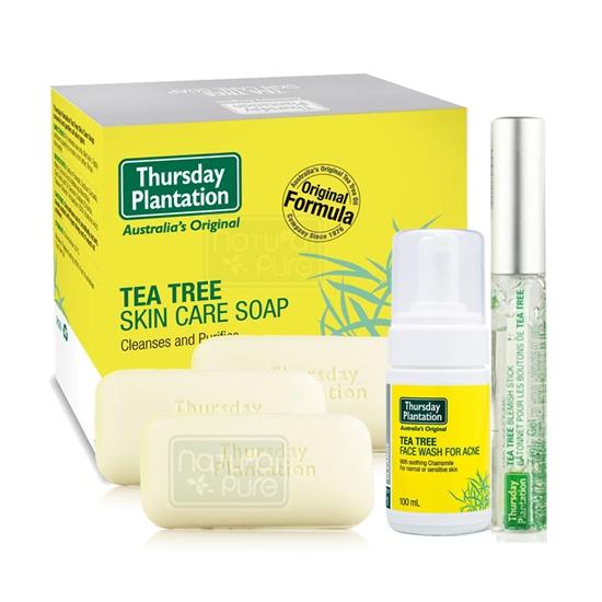 圖片 澳洲星期四農莊-茶樹潔顏慕斯+茶樹修護棒+茶樹純淨皂x3超值優惠組