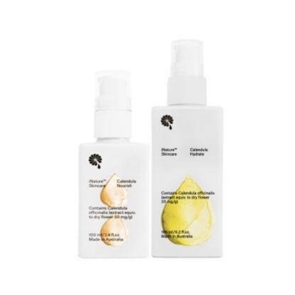 圖片 iNature植維方金盞花保濕潤膚乳液(185ml/瓶)+營養霜(100ml/瓶)