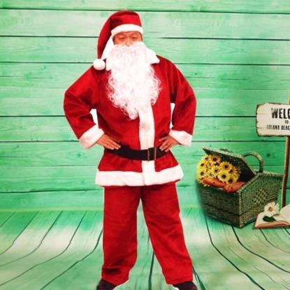圖片 【樂活e棧】聖誕節MIT豪華加厚禦寒版-聖誕老人服裝(豪華5件套組)