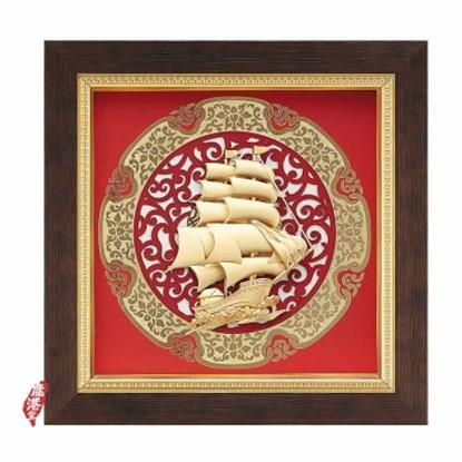 圖片 My Gifts-立體金箔畫-一帆風順(圓形窗花系列20.5x20.5cm)