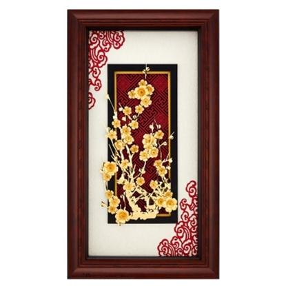 圖片 My Gifts-立體金箔畫-堅韌不拔-梅(新禪風系列38x68cm)