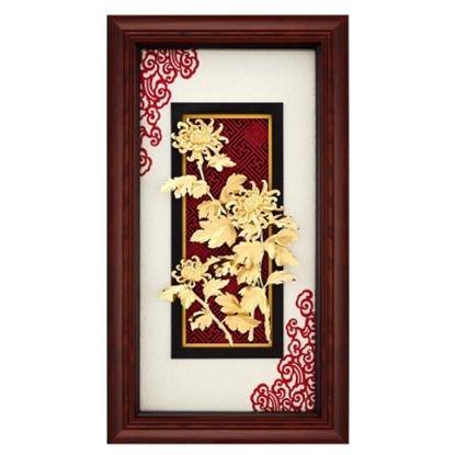 圖片 My Gifts-立體金箔畫-欣欣向榮-菊(新禪風系列38x68cm)