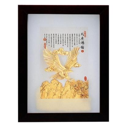 圖片 My Gifts-立體金箔畫-大展鴻圖(古香系列22.7x17.6cm)