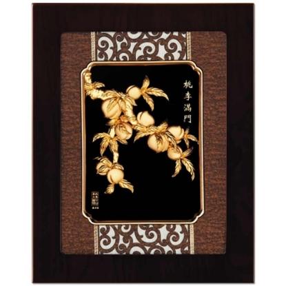 圖片 My Gifts-立體金箔畫-桃李滿門(框畫系列27x34cm)