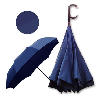 圖片 好雅也欣-雙層傘布散熱專利反向傘-C把系列-深邃藏藍