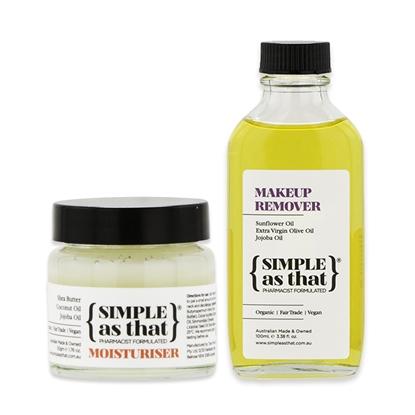 SIMPLE as that-澳洲-植萃調理組-乳木果舒緩膏(50g)+兒茶素卸妝油(100ml)