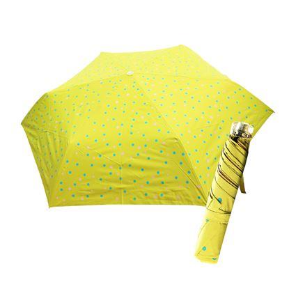 圖片 舒亦媚-抗UV防曬三折晴雨傘(五彩水玉點-綠底藍紫點)