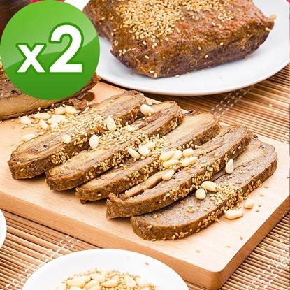 圖片 三低素食年菜 樂活e棧 迎春納福-素烤鴨-蛋素可食(750g/盒,共2盒)