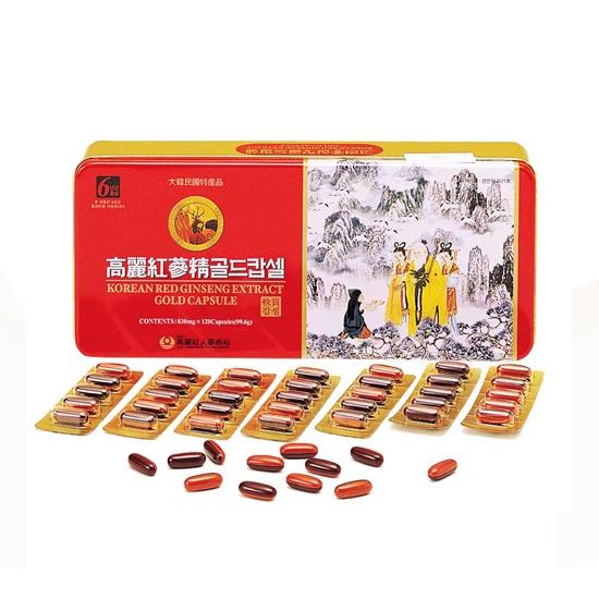圖片 金蔘-6年根韓國高麗紅蔘鹿茸精膠囊(120顆/盒)
