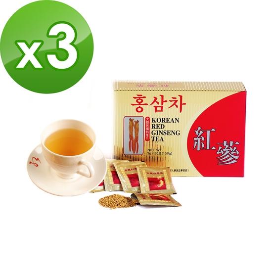圖片 金蔘-6年根韓國高麗紅蔘茶(50包/盒,共3盒)
