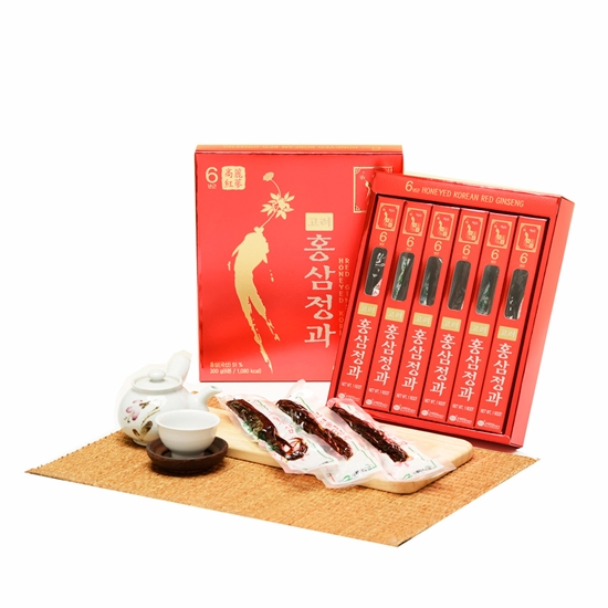 圖片 金蔘-6年根高麗紅蔘正果(300g/盒)
