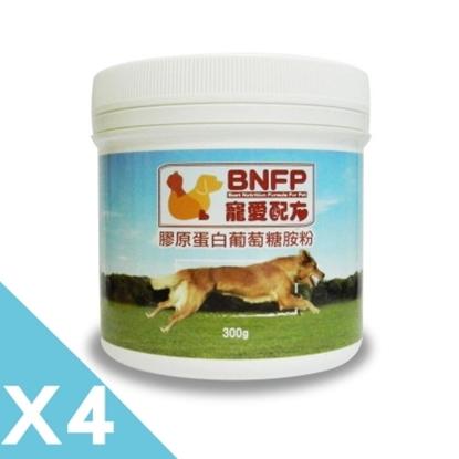 圖片 ?【BNFP寵愛配方】膠原蛋白葡萄糖胺粉300gX4入靈活優超值組?
