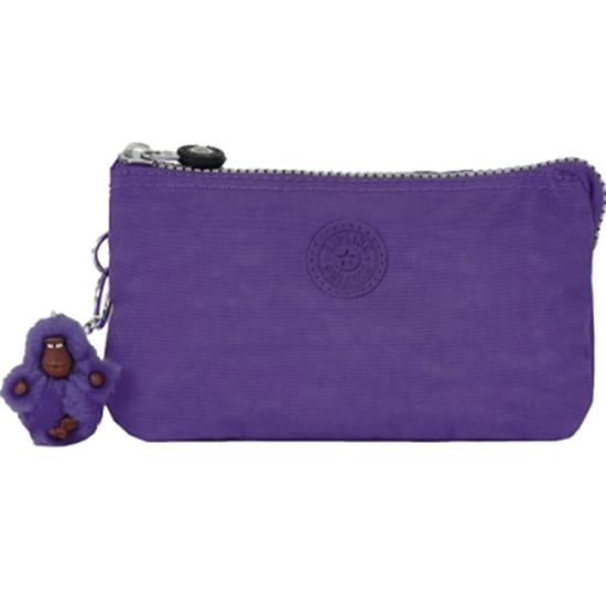 圖片 KIPLING 三層手拿包-紫色 (現貨+預購)