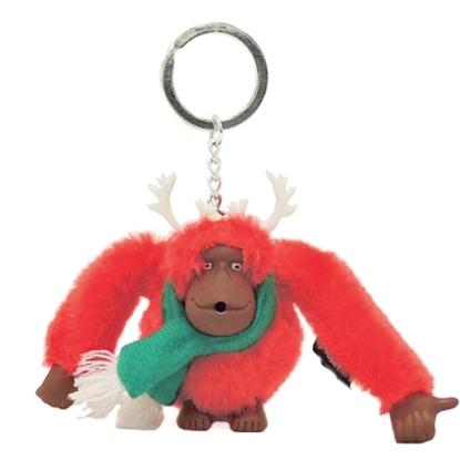 KIPLING聖誕風猴子吊飾鑰匙圈 (現貨+預購)