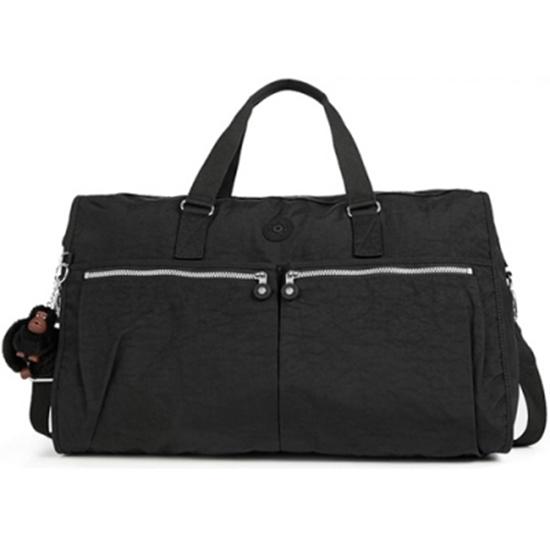 圖片 KIPLING 雙口袋旅行袋/行李包-大 黑色(現貨+預購)